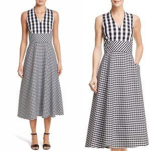 Lafayette 148 New York Gingham Midi Dress
